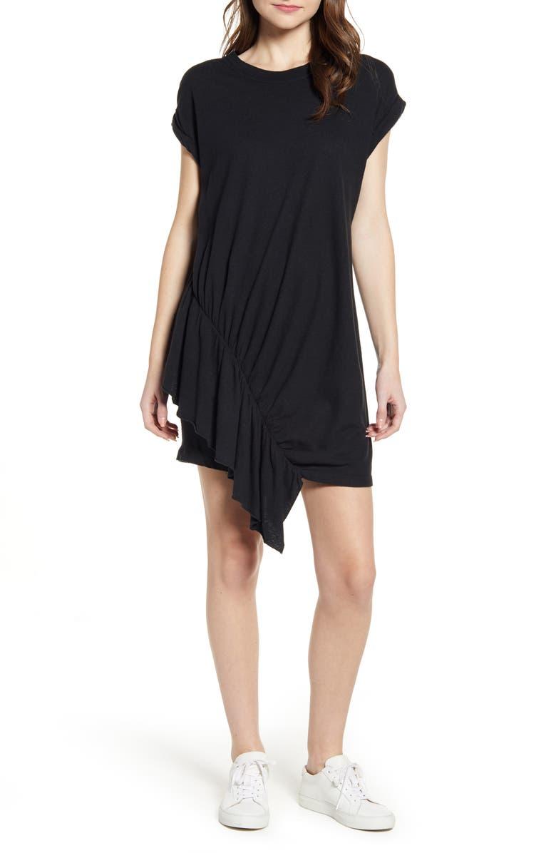 CURRENT/ELLIOTT The Pacific Ave Asymmetrical Dress, Main, color, 001