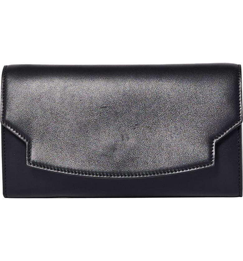 THE ROW Lady Leather Wallet, Main, color, BLACK
