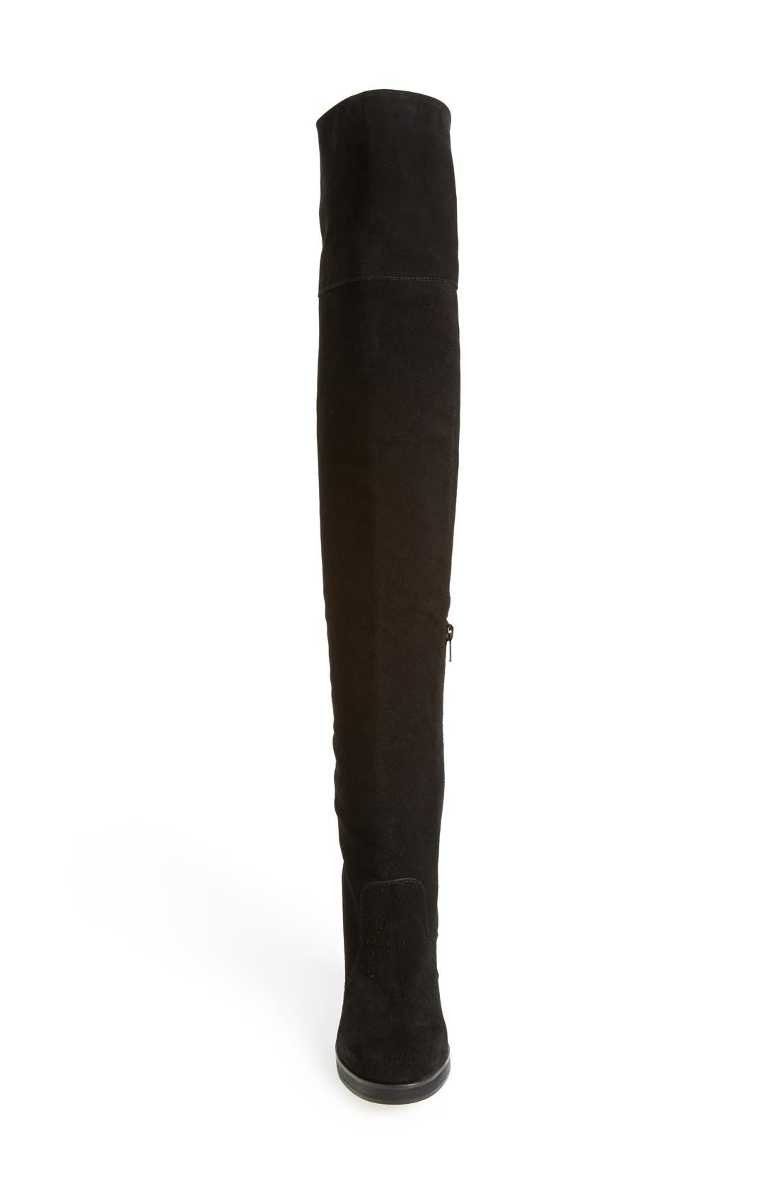 ,                             'Carbon' Over the Knee Boot,                             Alternate thumbnail 3, color,                             001