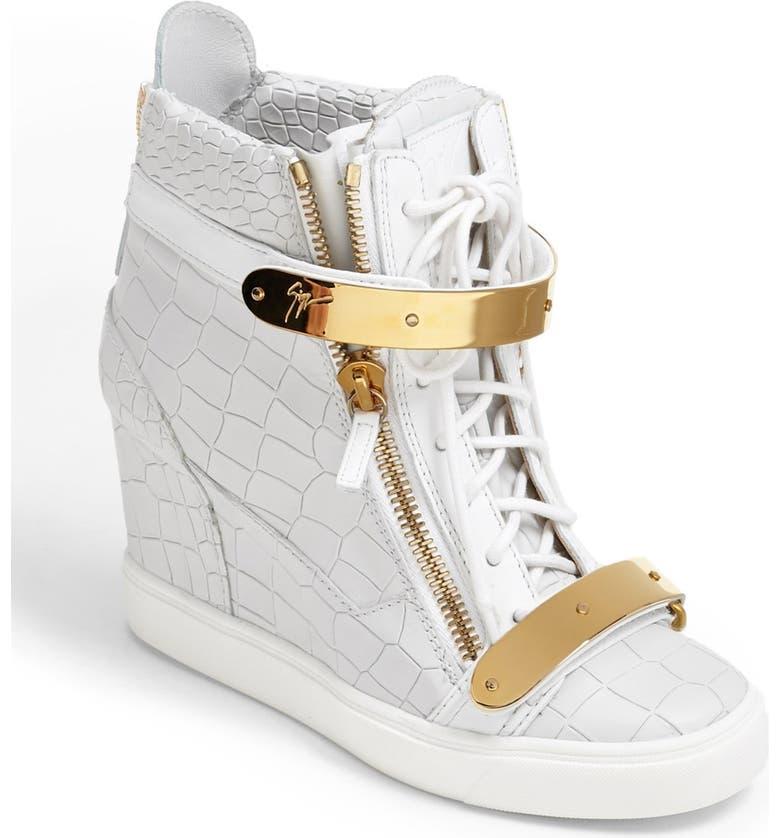 6e65a0db7bf9b Giuseppe Zanotti 'Lorenz' High Top Wedge Sneaker | Nordstrom