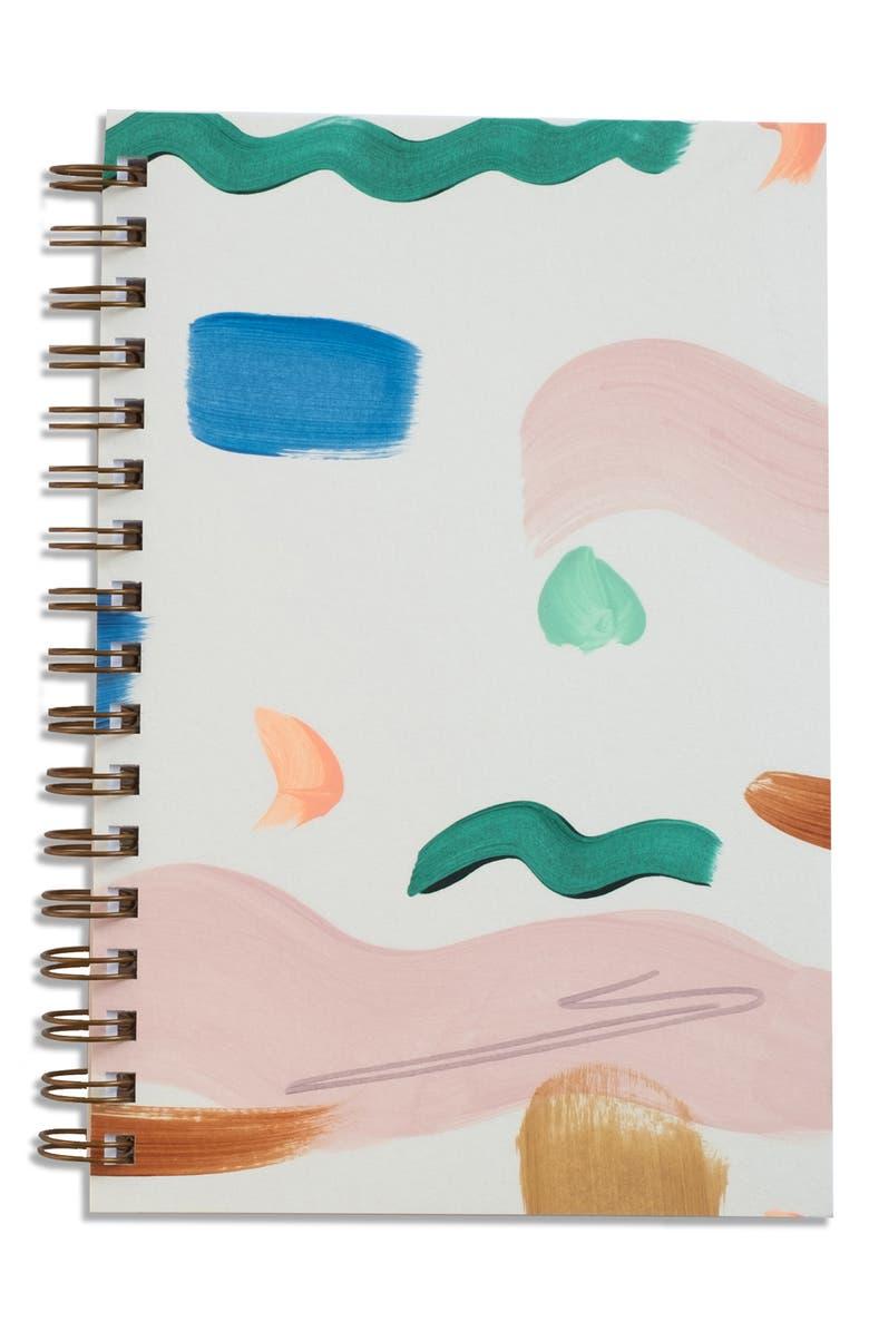 MOGLEA Hand Painted Notebook, Main, color, SEASHAPE