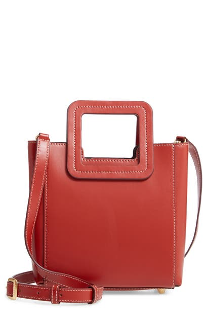 STAUD MINI SHIRLEY LEATHER SATCHEL