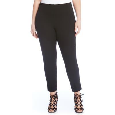 Plus Size Karen Kane Piper Skinny Ankle Pants, Black