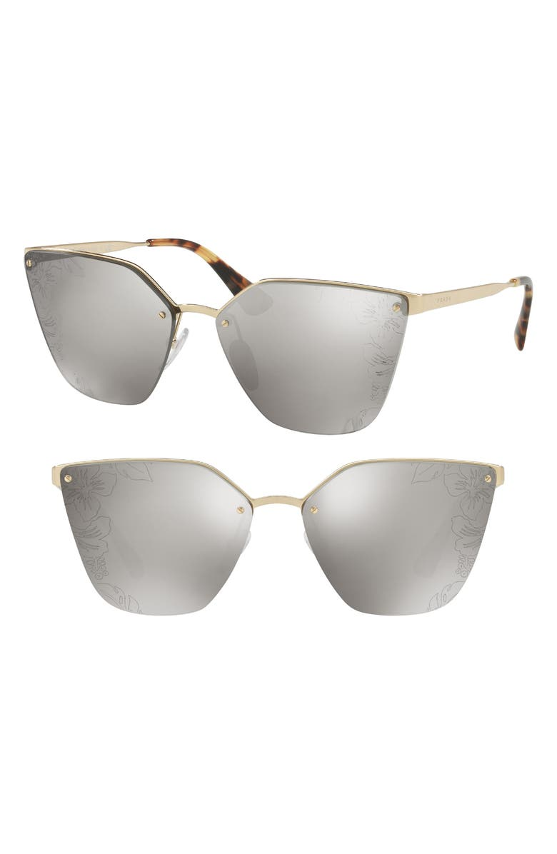 Cinéma 63mm Oversize Rimless Sunglasses by Prada