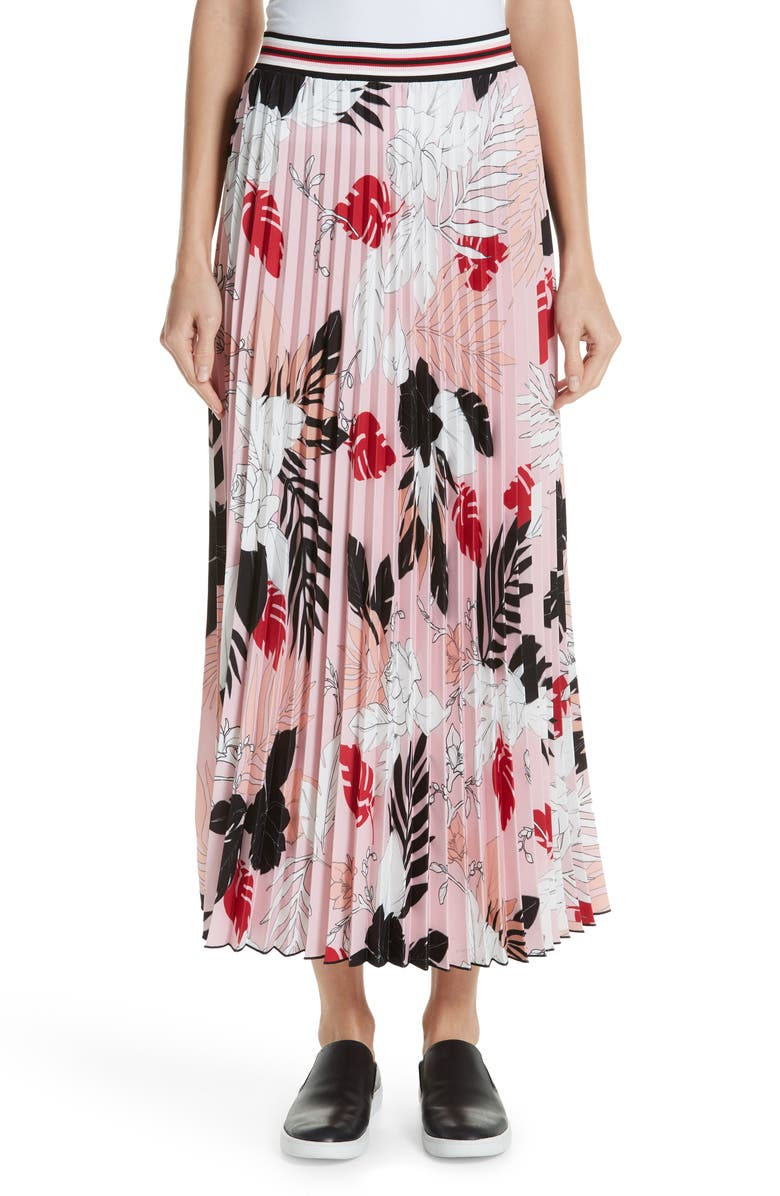 Print Pleat Maxi Skirt by Fuzzi