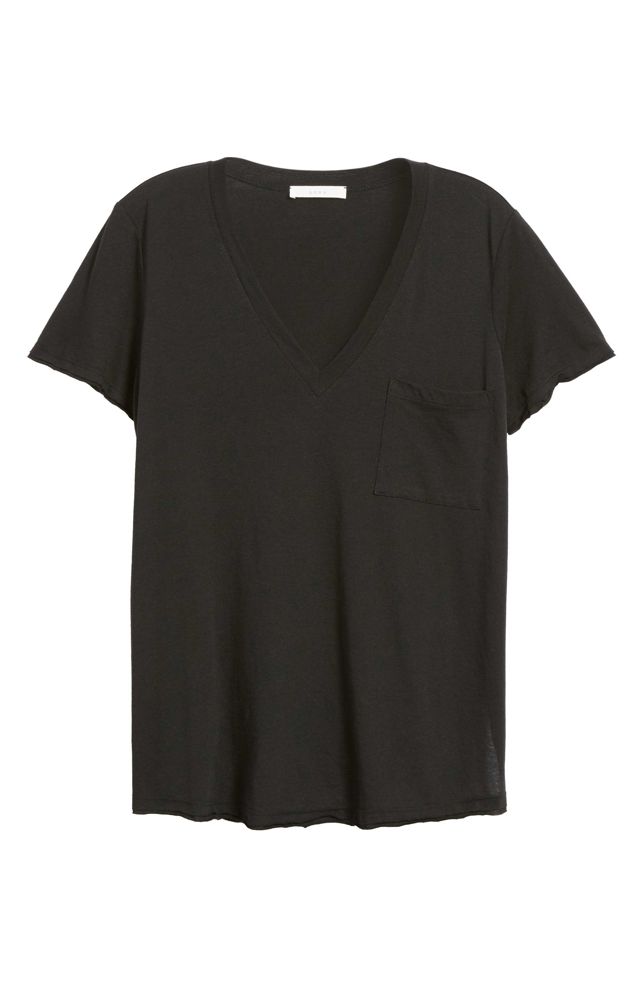 ,                             Raw Edge Side Slit Tee,                             Alternate thumbnail 24, color,                             001
