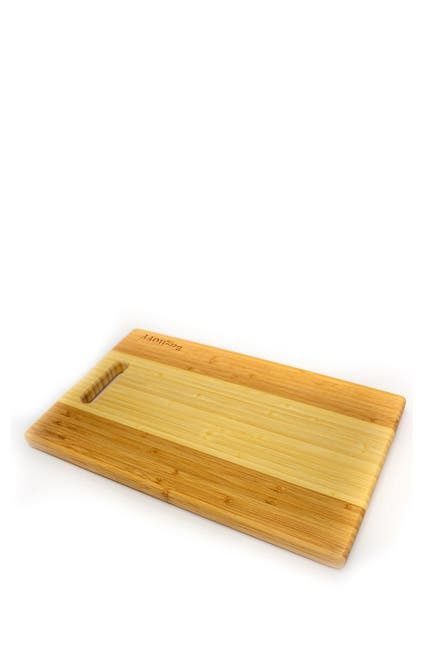 Image of BergHOFF Bamboo Rectangular Cutting Board - Two-Tone with Handle
