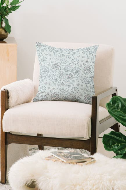 Image of Deny Designs Pimlada Phuapradit Winter Petal Square Throw Pillow