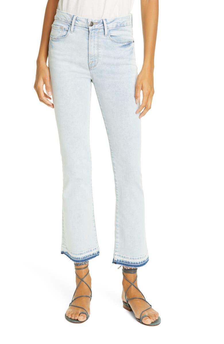 FRAME Le Crop Mini High Waist Release Hem Bootcut Jeans, Main, color, PALI