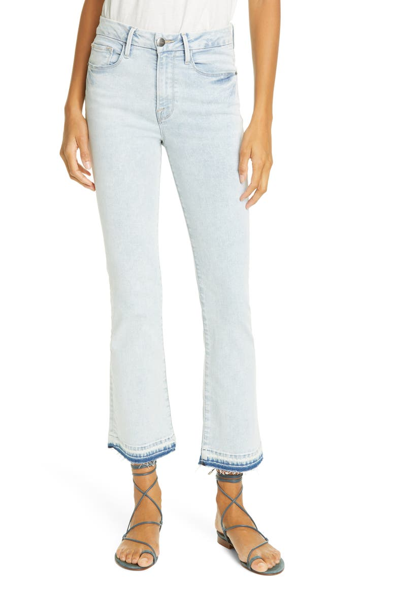 FRAME Le Crop Mini High Waist Release Hem Bootcut Jeans, Main, color, 450