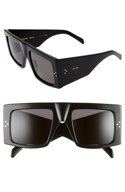 Celine Sunglasses 51MM FLAT TOP SUNGLASSES - BLACK/ SMOKE