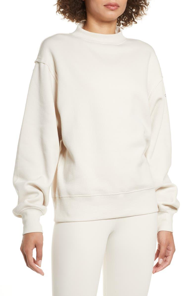 ALO Freestyle Mock Neck Sweatshirt, Main, color, 276