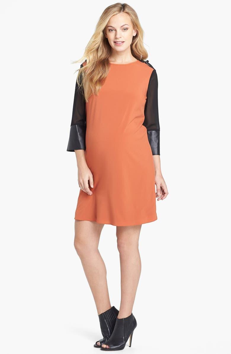MATERNAL AMERICA Sweater Back Dress, Main, color, 800