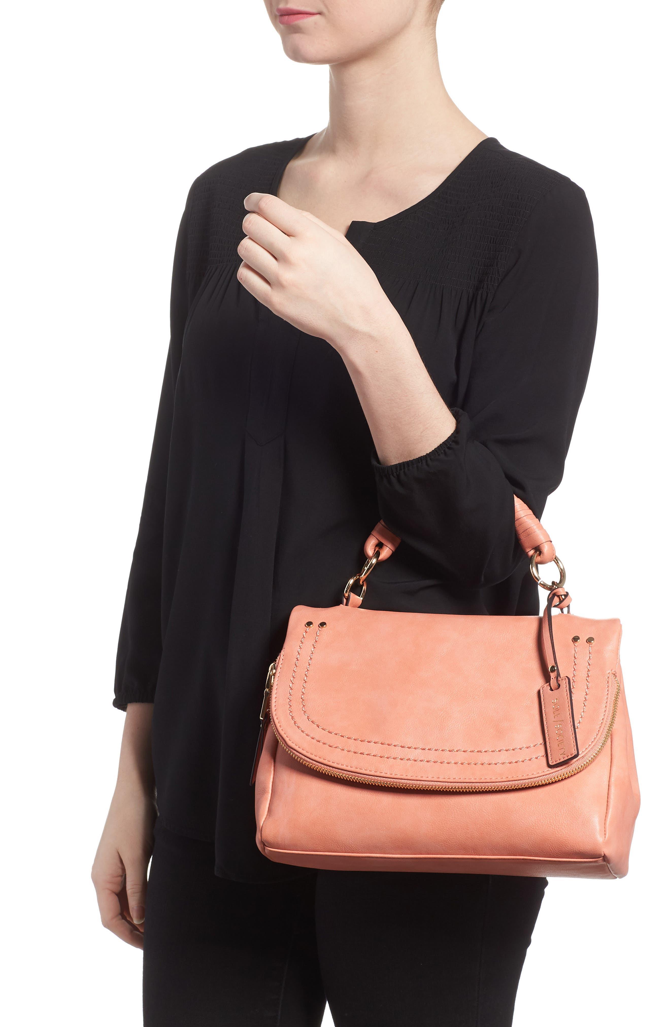 ,                             Top Handle Faux Leather Crossbody Bag,                             Alternate thumbnail 20, color,                             950