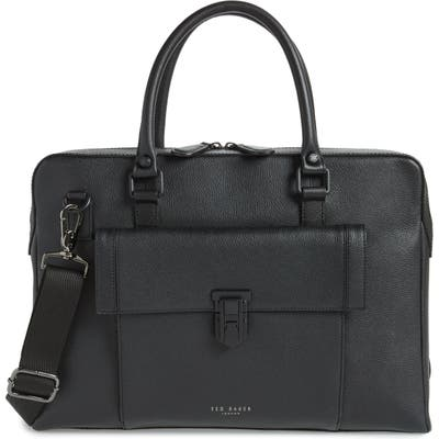 Ted Baker London Leather Document Bag - Black
