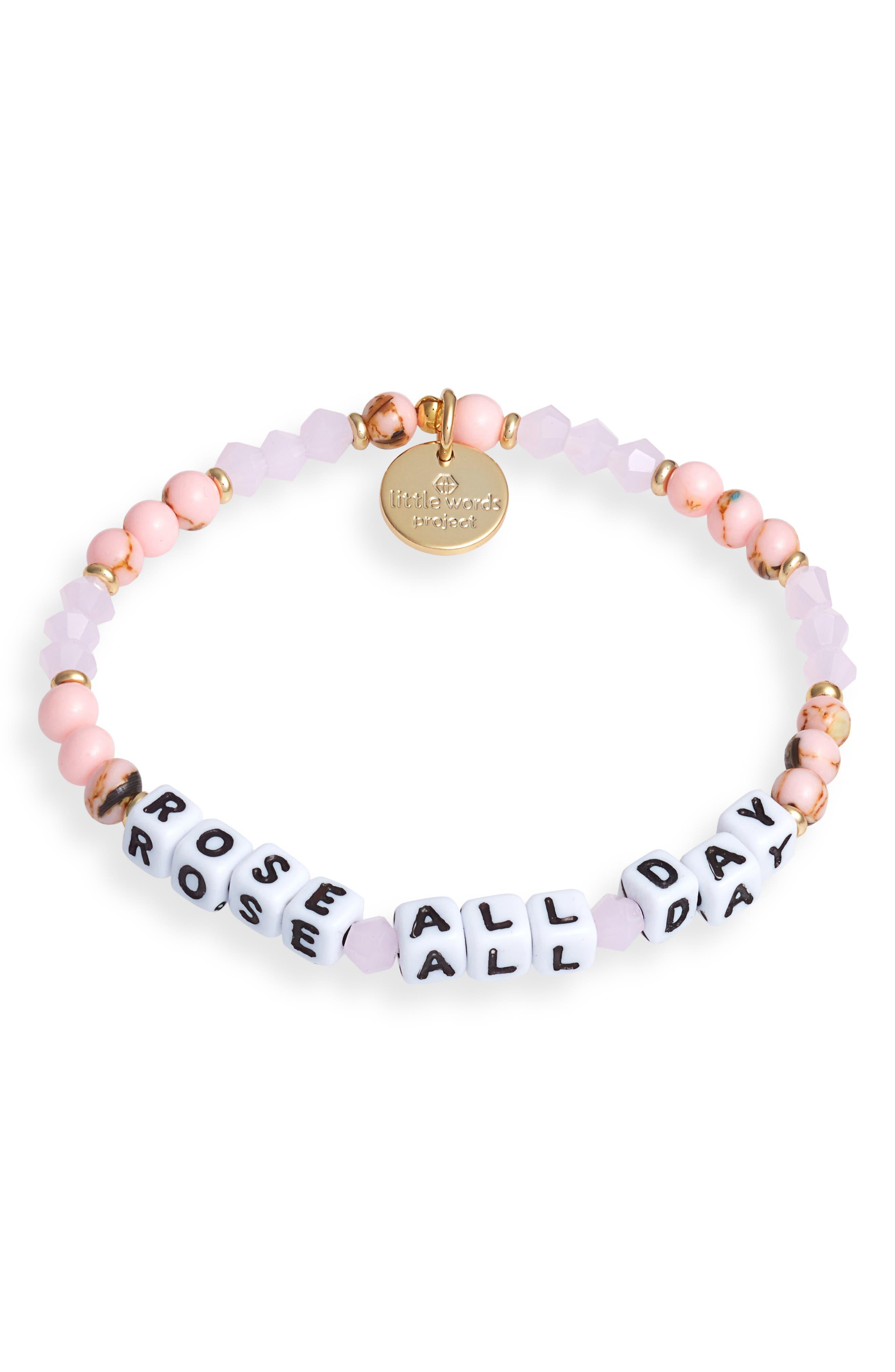 Rose All Day Beaded Stretch Bracelet