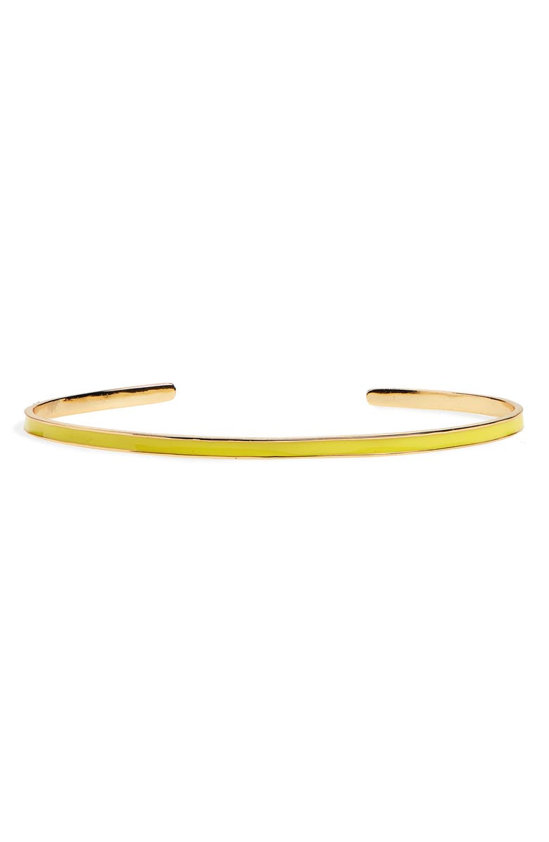 ARGENTO VIVO Slim Enamel Cuff Bracelet, Main, color, 710