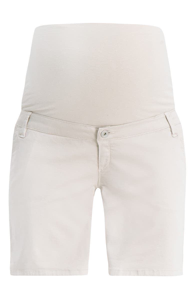 NOPPIES Brenda Over the Belly Maternity Shorts, Main, color, DOVE
