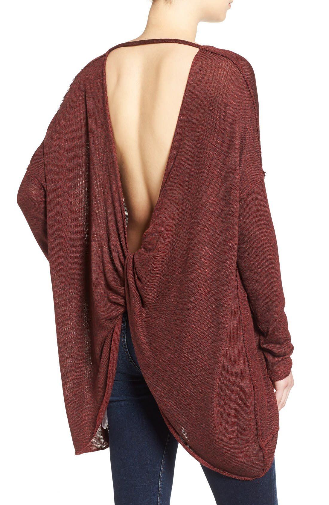 ,                             'Shadow' Oversize Hacci Open Back Top,                             Alternate thumbnail 29, color,                             930