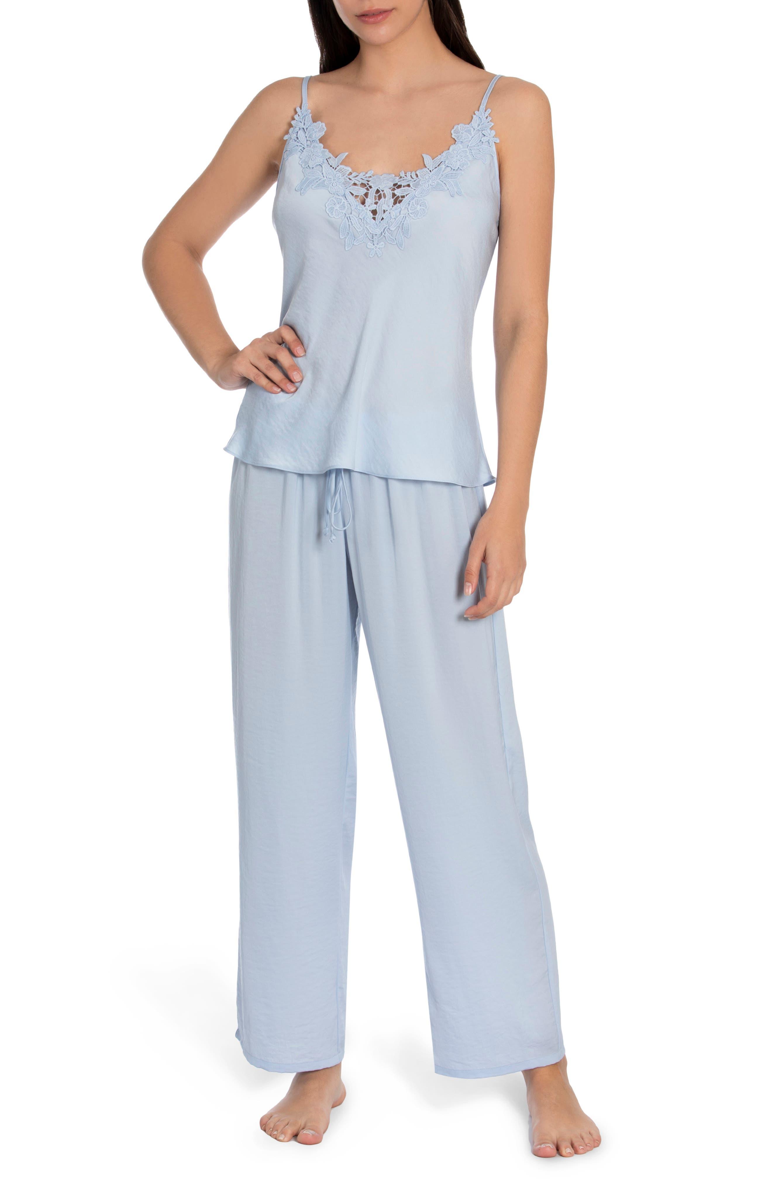 Pearl Satin & Lace Pajamas
