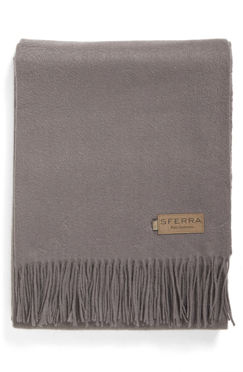 SFERRA Dorsey Throw, Main, color, GREY
