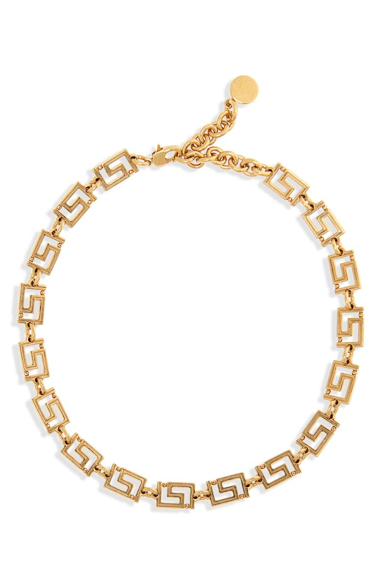 VERSACE FIRST LINE Chain Necklace, Main, color, 710