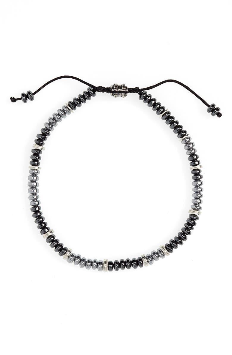 JONAS STUDIO Stone Bead Bracelet, Main, color, SILVER