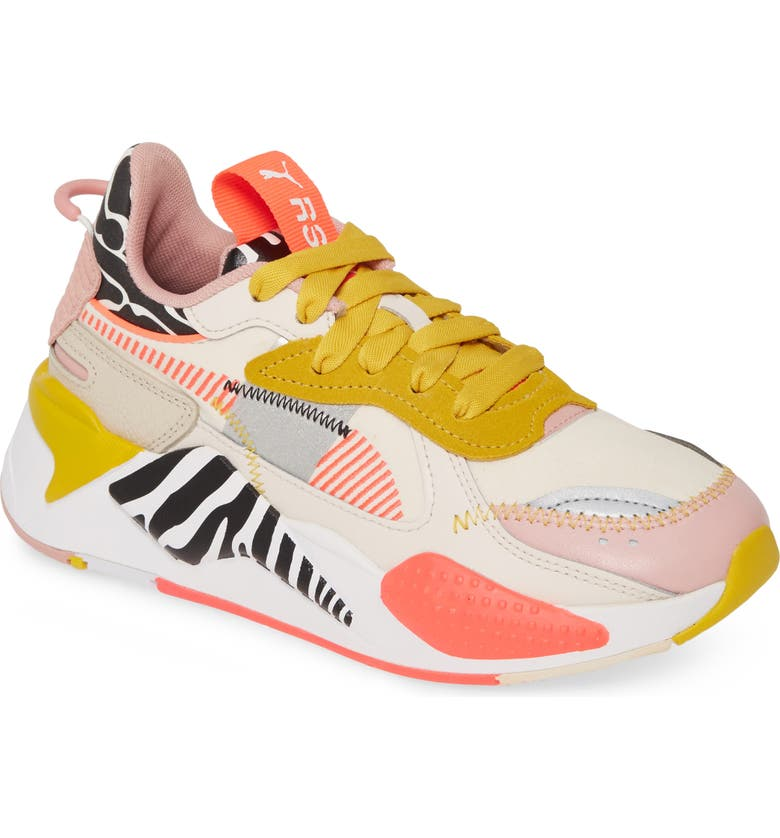PUMA RS-X Unexpected Mixes Sneaker, Main, color, PARCHMENT/ ROSE/ SULPHUR