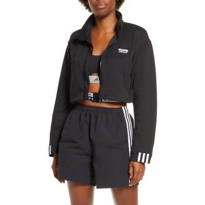Adidas Originals Crop Track Jacket, Black