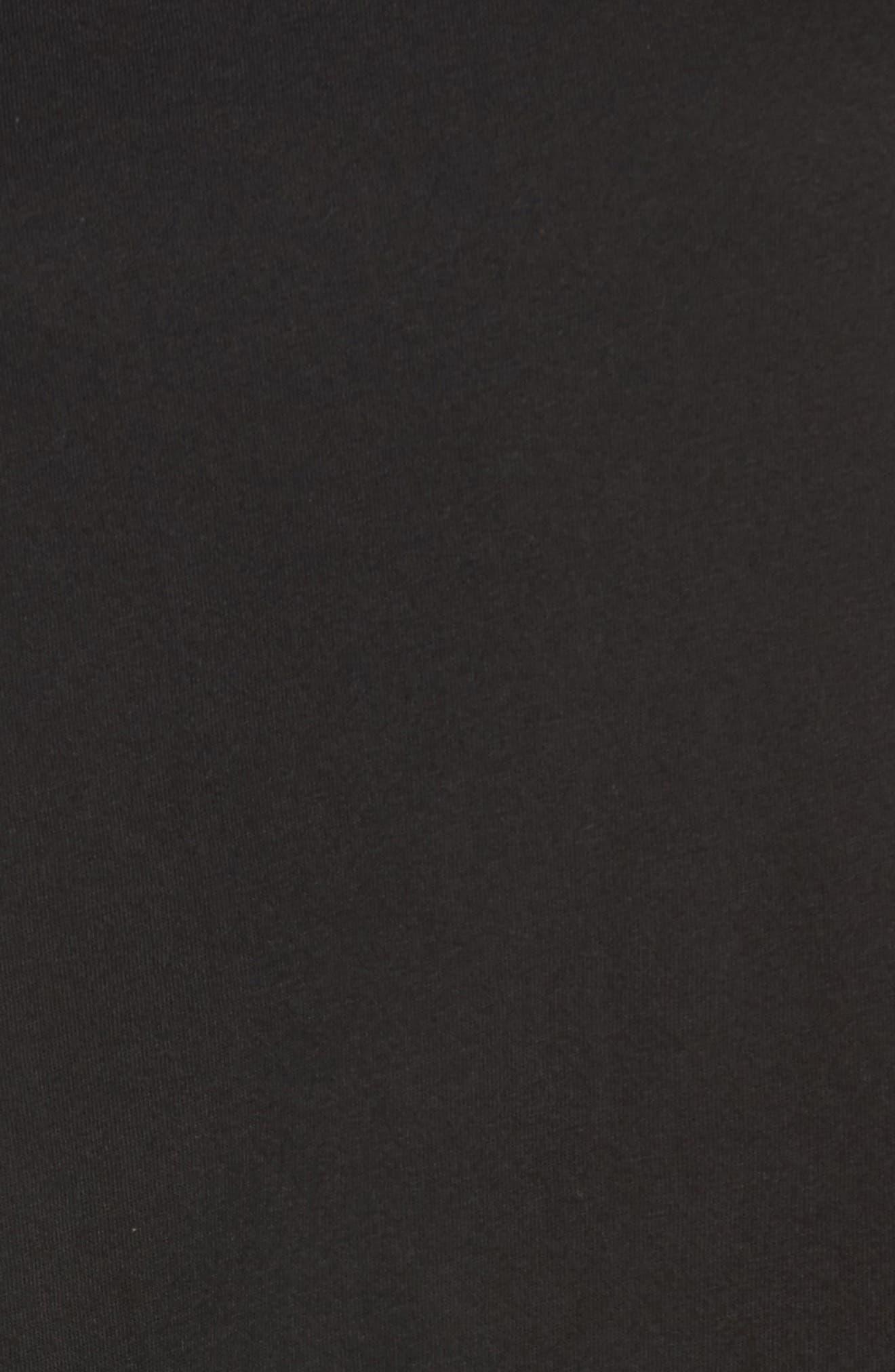 ,                             Peplum Tee,                             Alternate thumbnail 5, color,                             BLACK