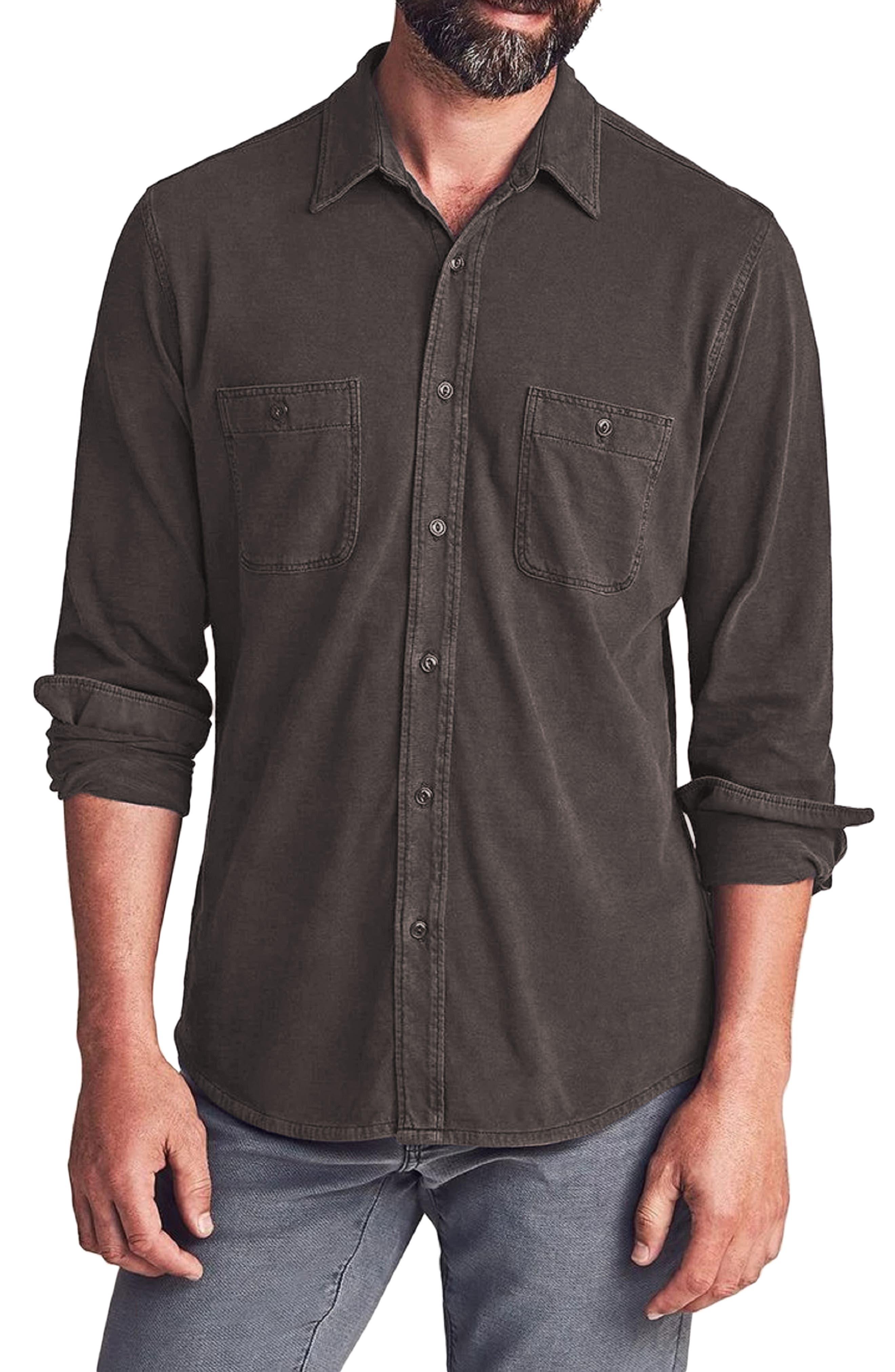Seasons Knit Button-Up Shirt