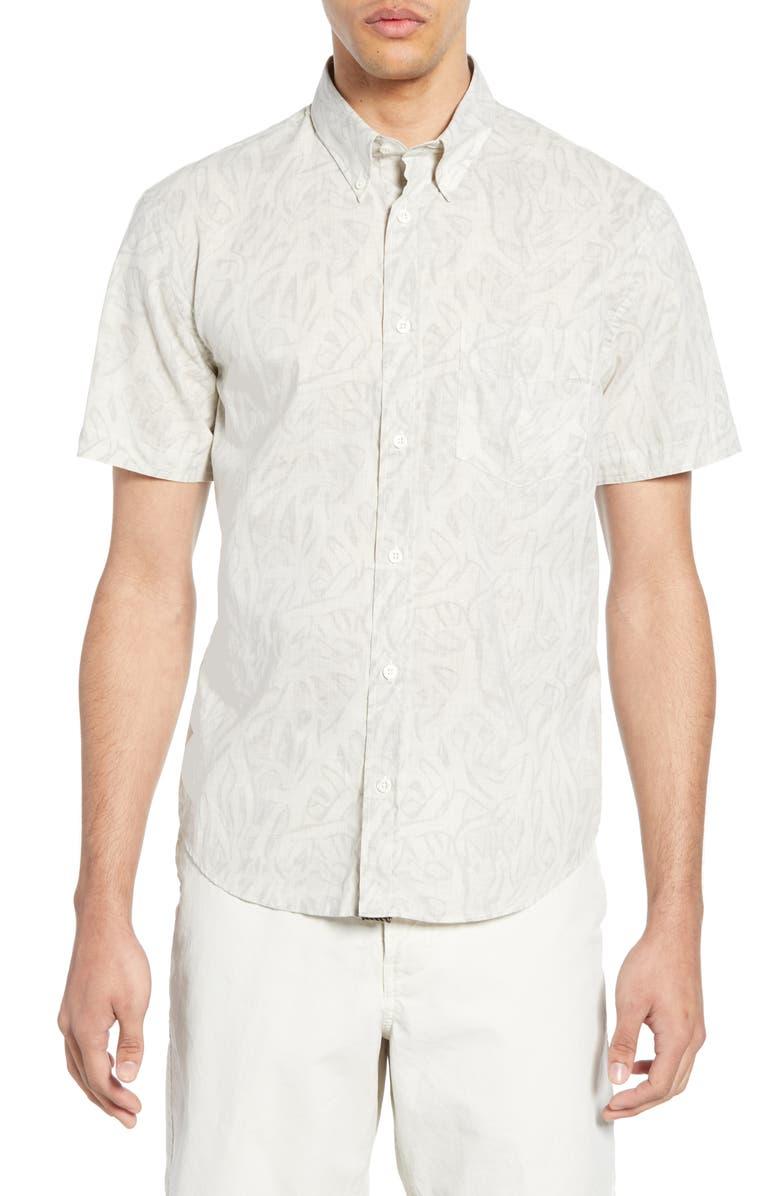 BILLY REID Kirby Antlers Slim Fit Shirt, Main, color, 250