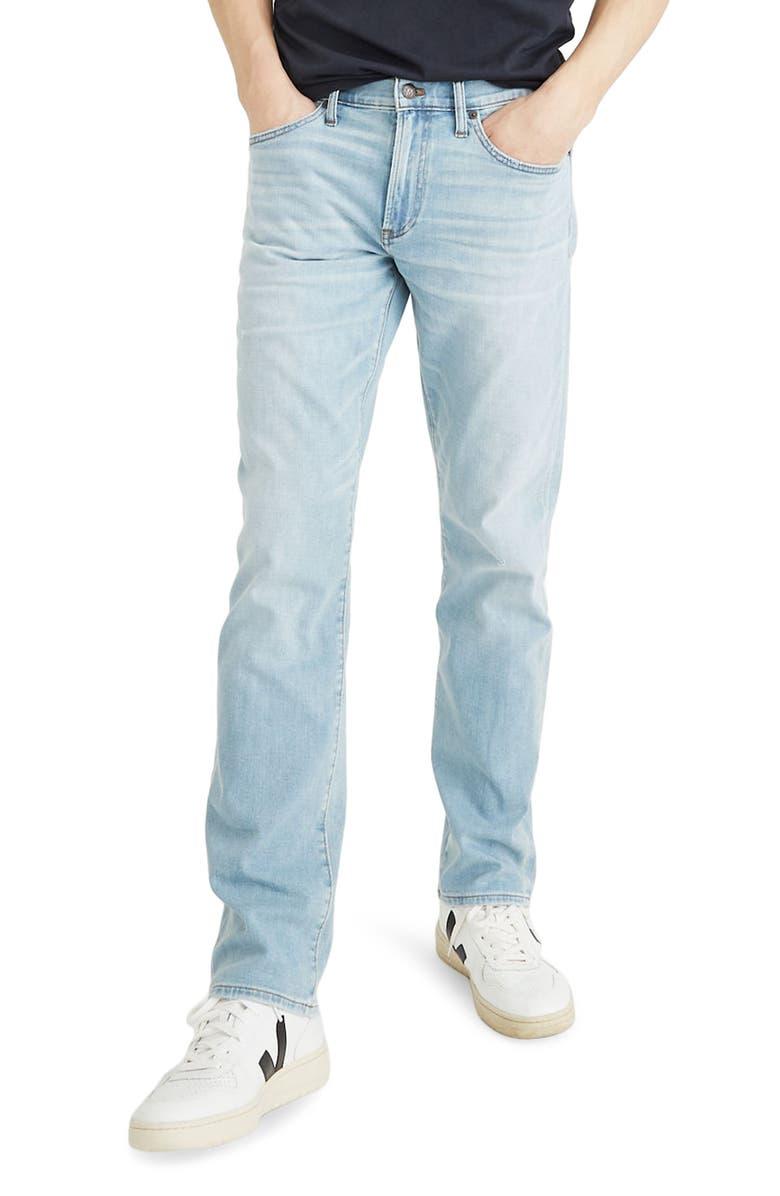 MADEWELL Straight Leg Jeans, Main, color, 400