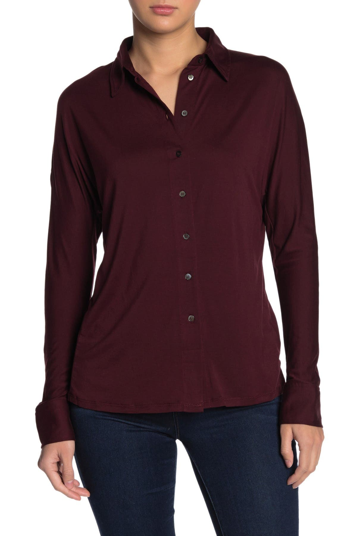 Image of Dress Forum Soft Button Front Shirt