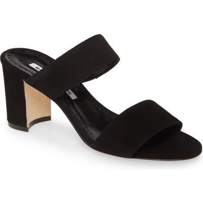 Manolo Blahnik Kalita Strappy Slide Sandal, Black