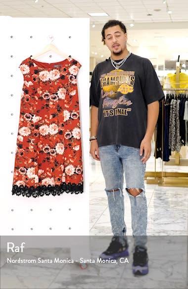 Floral Lace Hem Fit & Flare Dress, sales video thumbnail