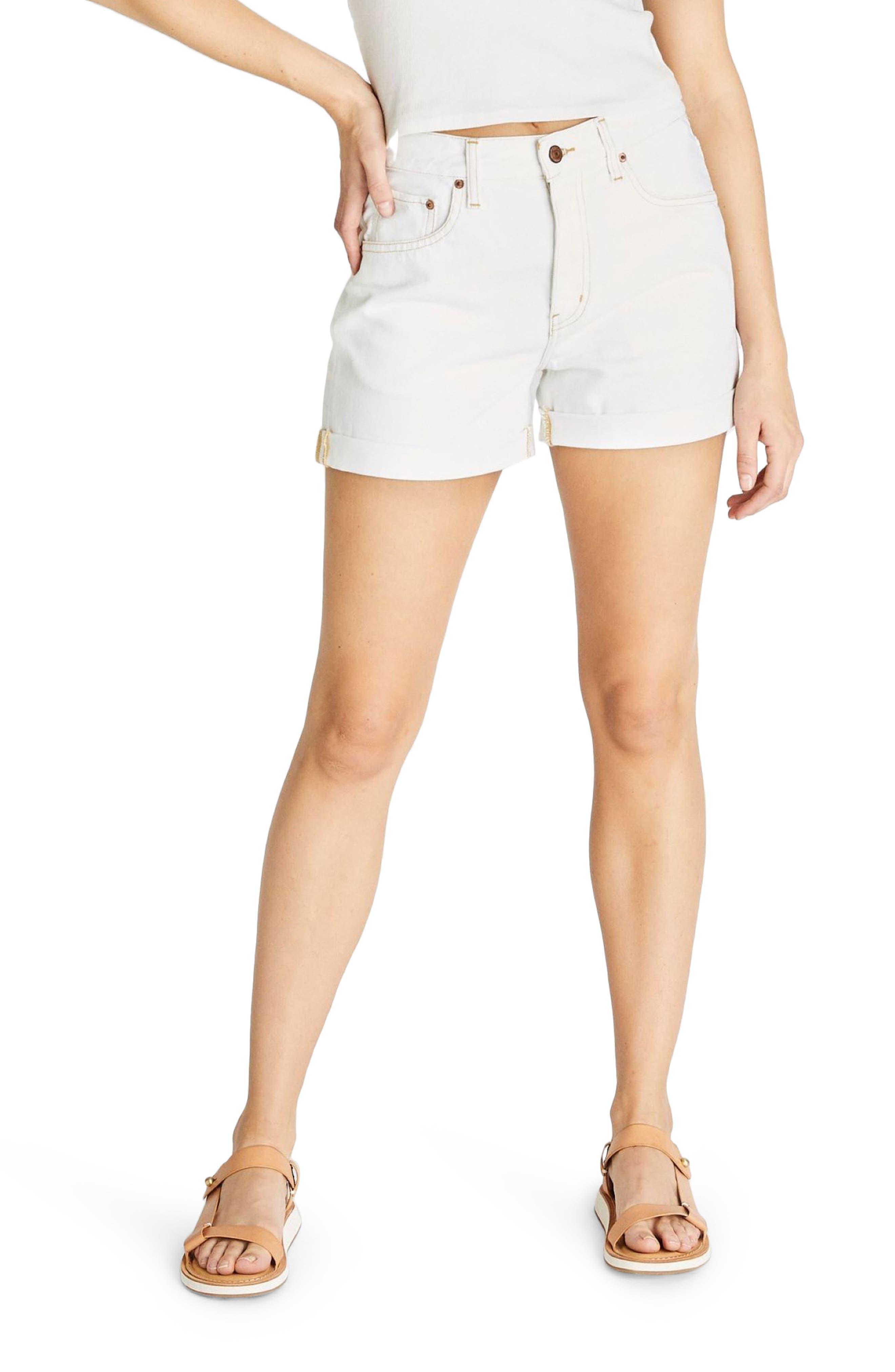Women's Etica Skylar Twist High Waist Roll Cuff Denim Shorts