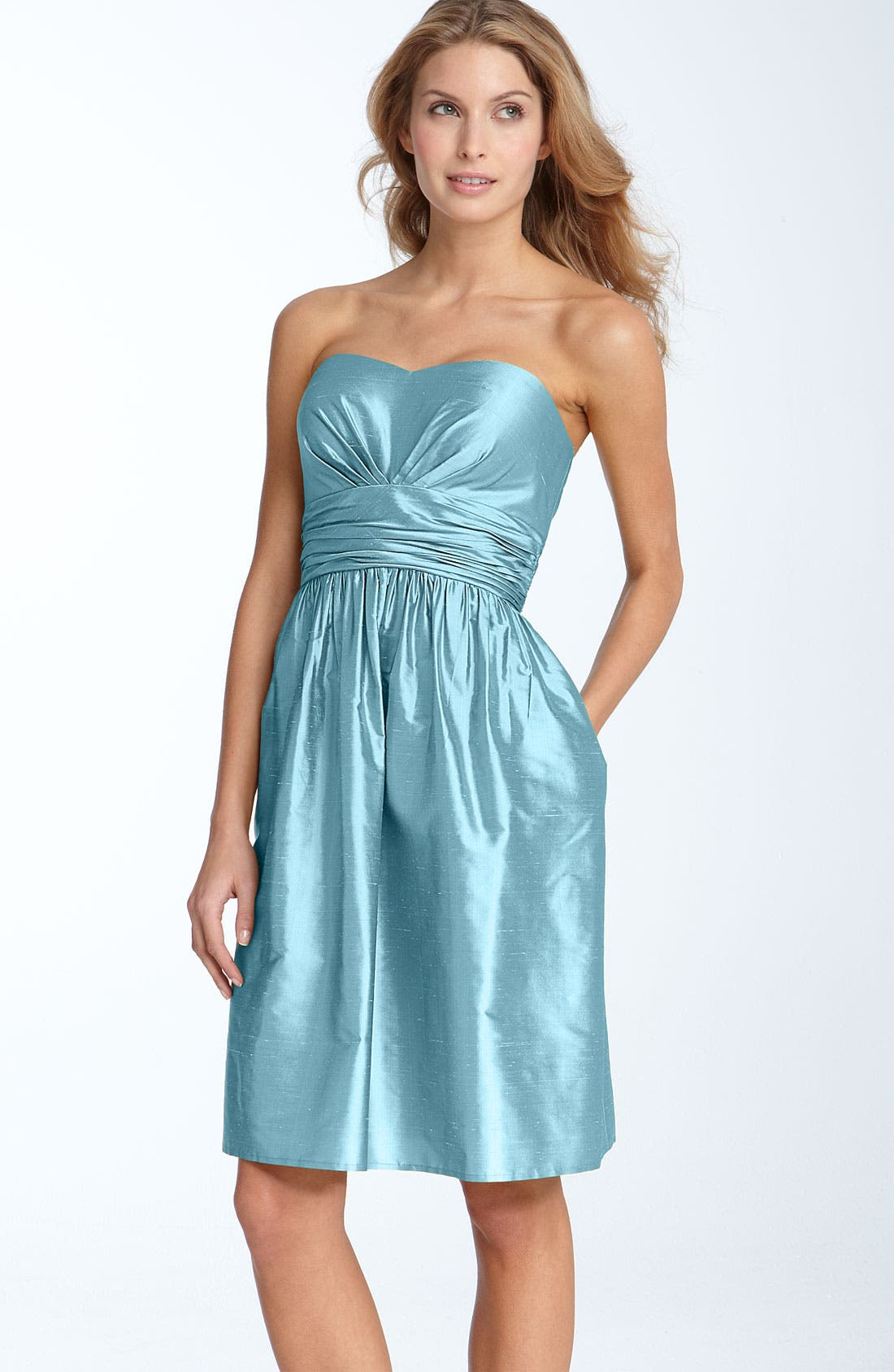 ,                             Silk Shantung Dress,                             Main thumbnail 3, color,                             020