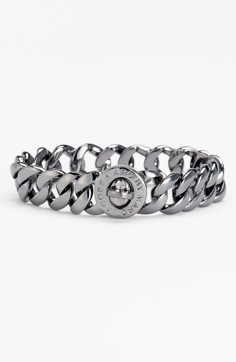 MARC BY MARC JACOBS 'Turnlock - Katie' Small Bracelet, Main, color, 001