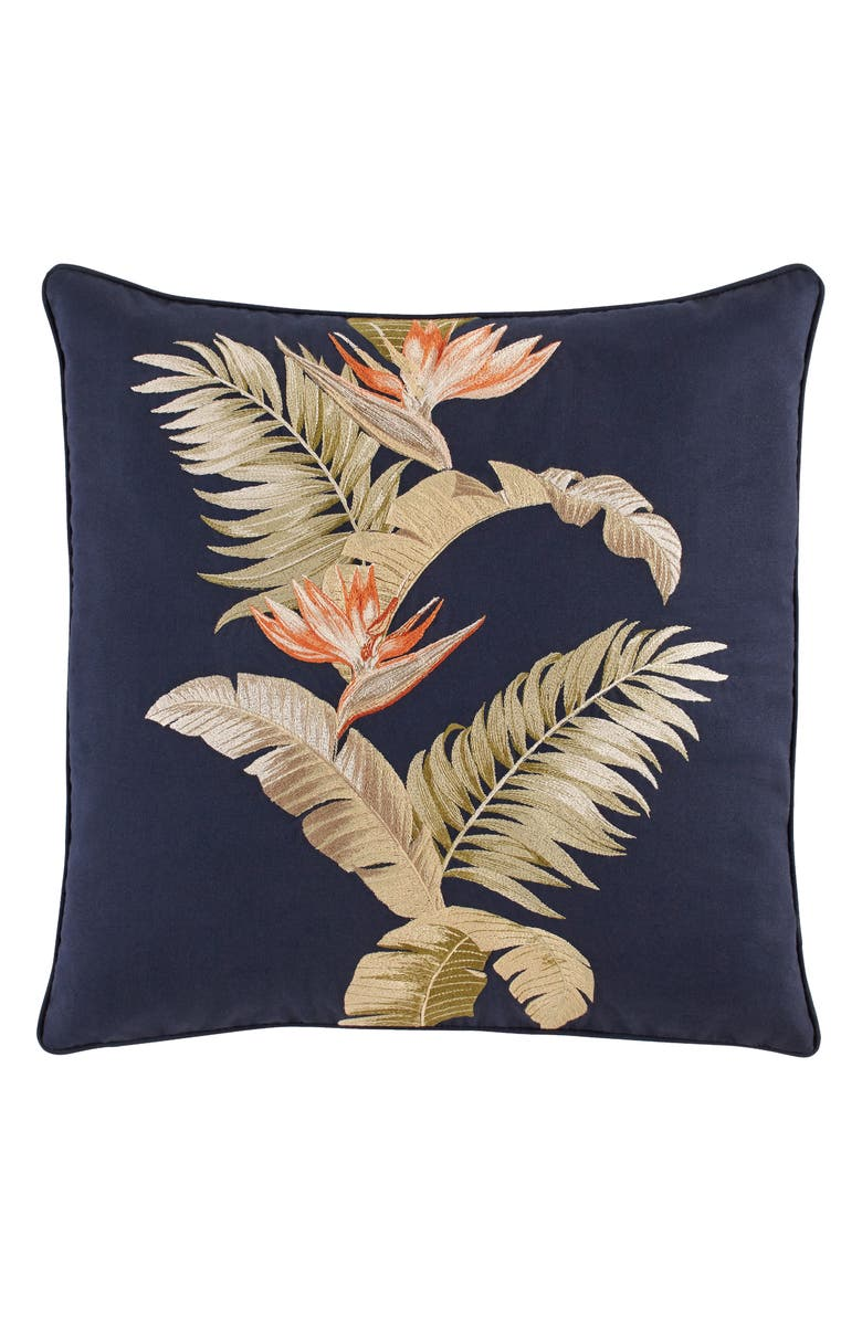 TOMMY BAHAMA San Jacinto Embroidered Accent Pillow, Main, color, INDIGO