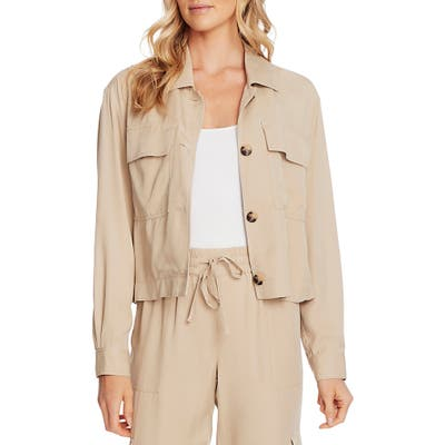 Vince Camuto Patch Pocket Jacket, Beige