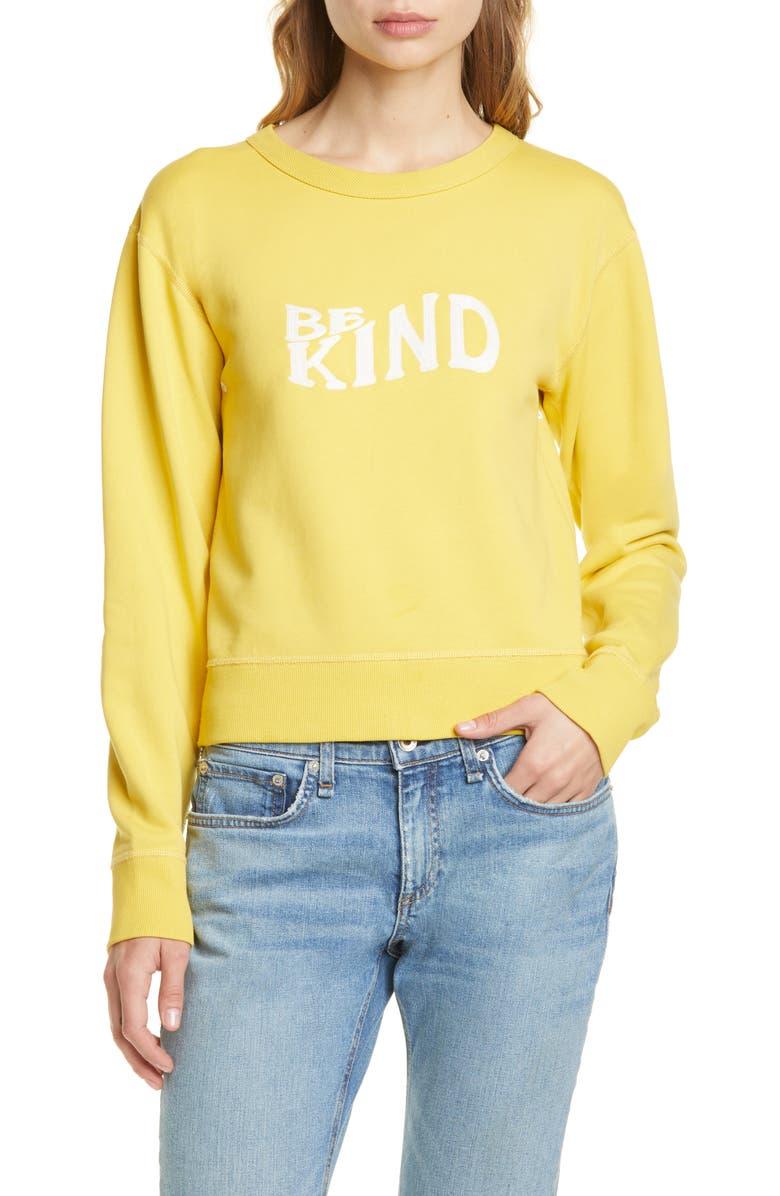 Rag Bone Be Kind Embroidered Sweatshirt