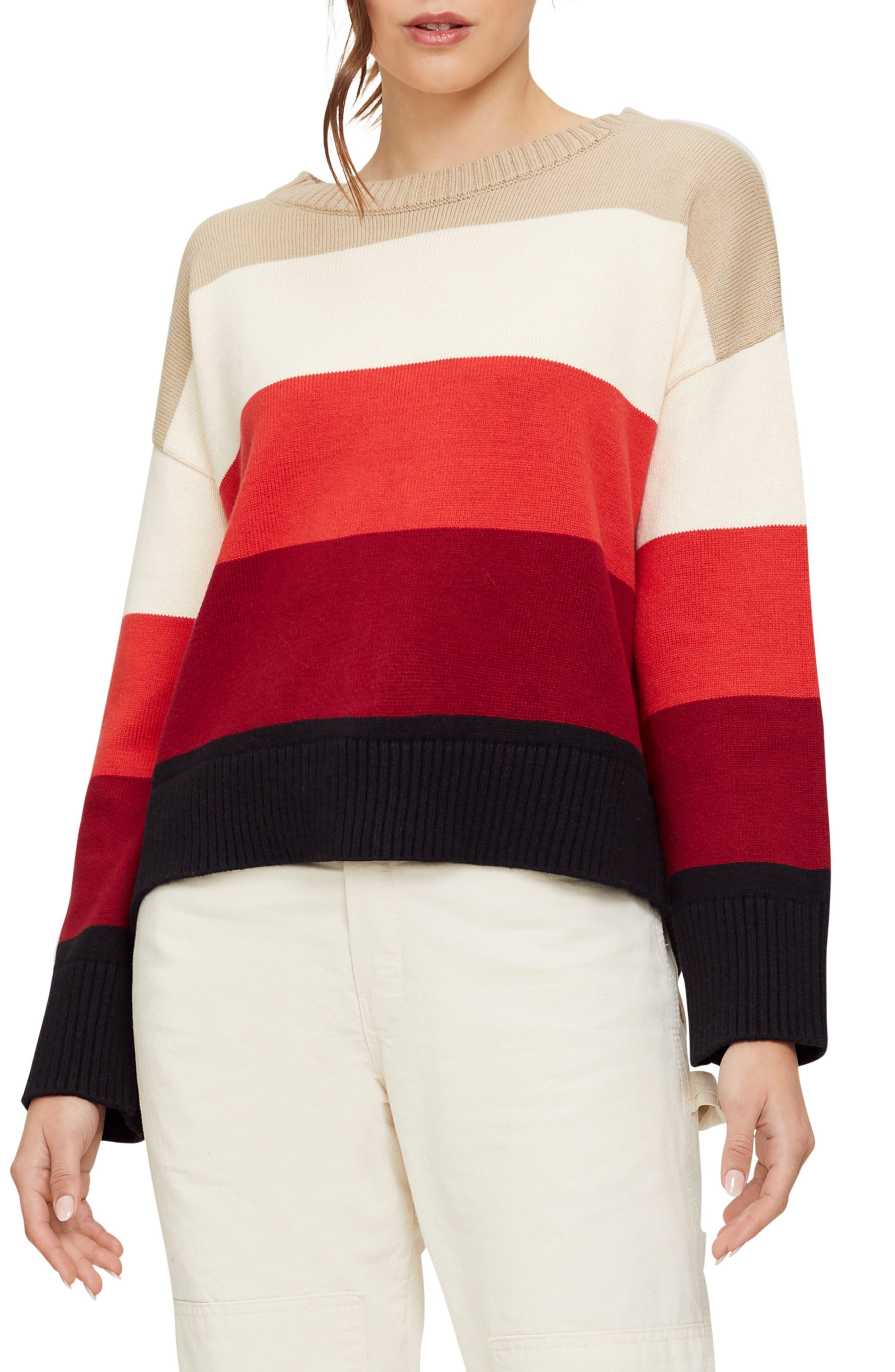 Image of Michael Stars Parker Bristol Striped Sweater