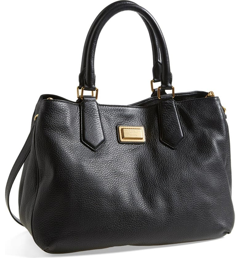 MARC JACOBS MARC BY MARC JACOBS Leather Tote, Main, color, 001