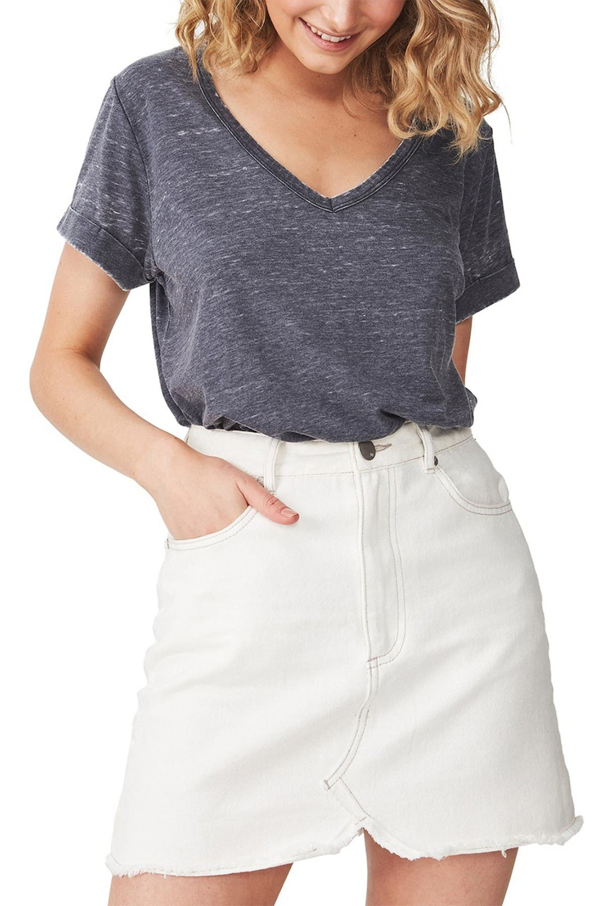 Image of Cotton On Karly Short Sleeve V-Neck Top