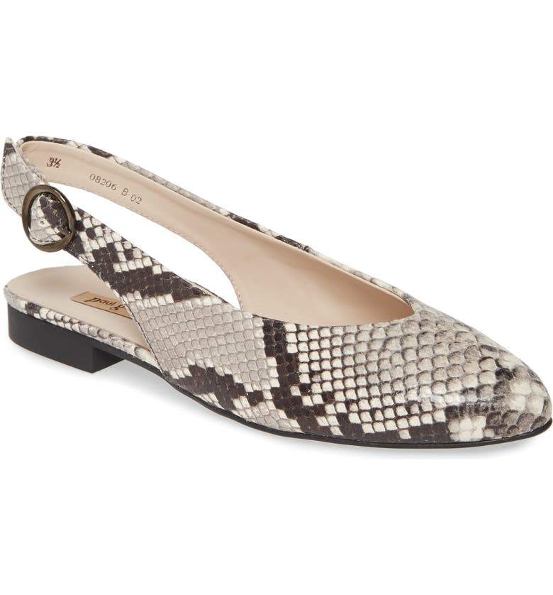 PAUL GREEN Blair Slingback Flat, Main, color, MAMBA SNAKE PRINT LEATHER