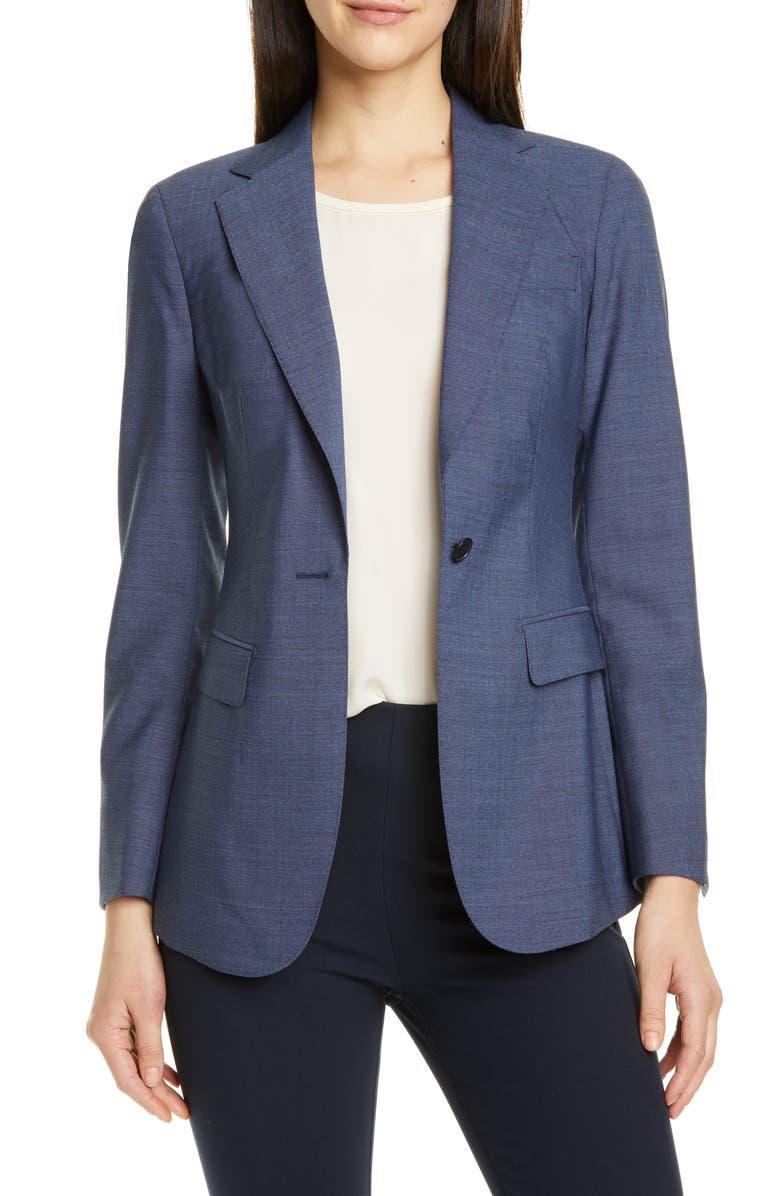 SUISTUDIO Cameron Wool Suit Jacket, Main, color, BLUE