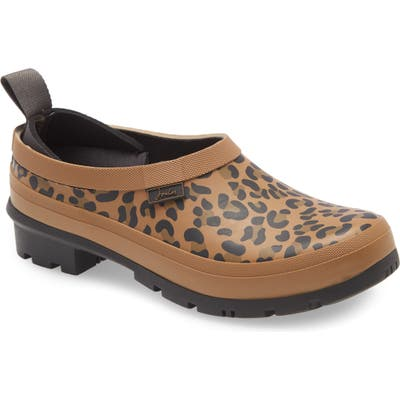 Joules Rain Boot Clog, Brown