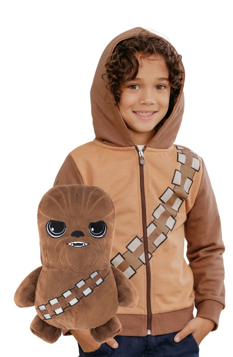 CUBCOATS x Star Wars<sup>™</sup> Chewbacca 2-in-1 Stuffed Animal Hoodie, Main, color, CARAMEL MIX