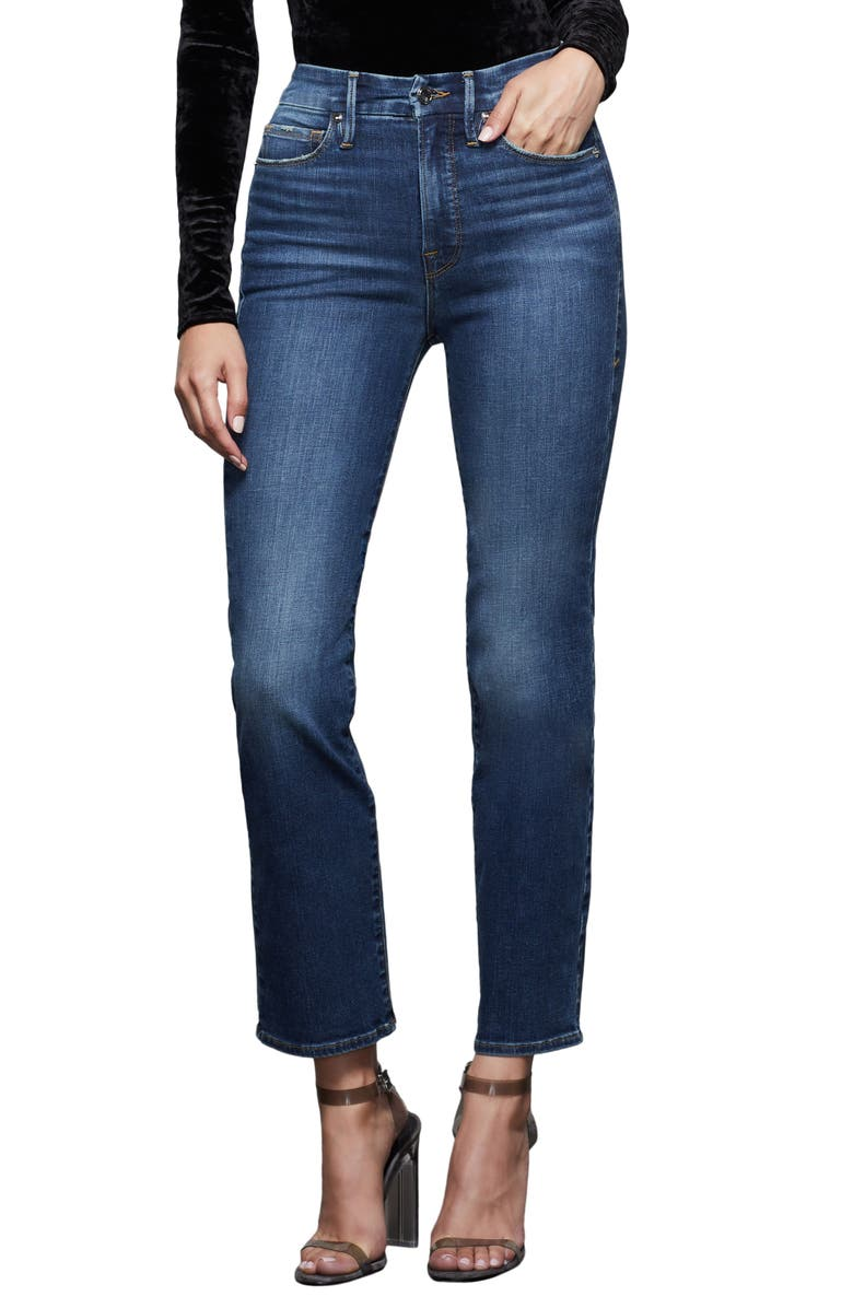 GOOD AMERICAN Good Straight Jeans, Main, color, 401